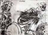 Autor: Gilberto Aceves Navarro / Bicicleta 1 / aguafuerte / 23x30 cm - 38x40 cm / Ed: 24