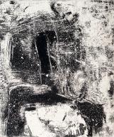 Autor: Gilberto Aceves Navarro / T: La Conquista 03 / aguafuerte y aguatinta / 30x25 cm - 49x36 cm / Ed: 24