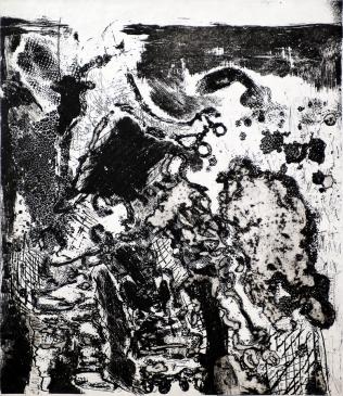 Autor: Gilberto Aceves Navarro / T: Patinadores 1 / aguafuerte y aguatinta / 34.5x39,5 cm - 54x39 cm / Ed: 24