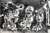 Autor: Gilberto Aceves Navarro / T: Patinadores 5 / aguafuerte y aguatinta / 18x26 cm - 33x39 cm / Ed: 24