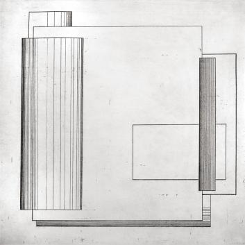 Autor: Ximena Alarcón / Técnica: aguafuerte / Medidas placa: 49x49 cm - papel: 79x53 cm/ Edición: 8
