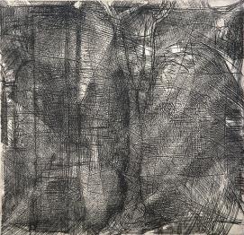 Autor: Humberto Baca / Título: Abstracto / Técnica: aguafuerte / Medida placa: 26x26 cm - papel: 39x54 cm/ Edición: 24