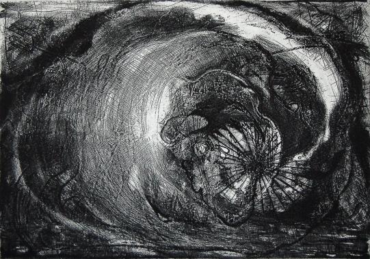 Humberto Baca - Pablo Serna (alimón) / aguafuerte / 49x69 cm / Ed: 18