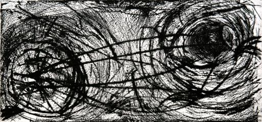 Autor: Humberto Baca / T: Arquitectura íntima / aguafuerte y punta seca / 18x70 cm / Ed: 13