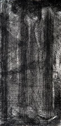 Autor: Humberto Baca / T: Columnas del Degollado / 50x24 cm/ aguafuerte / Ed: 13
