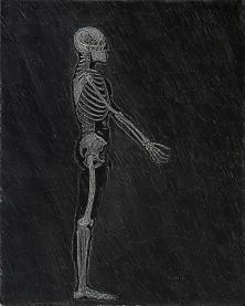 Autor: Humberto Baca / T: Homo sapiens y cannis familiaris / aguafuerte / 49x65 cm - 61x80 cm / Ed: 13