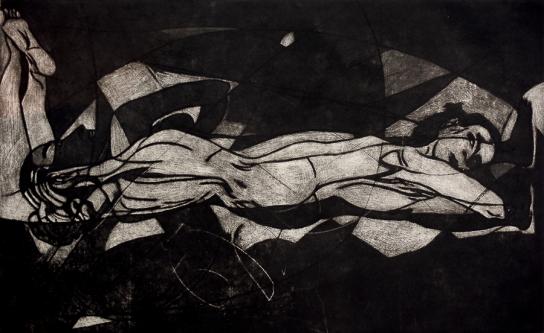 Autor: Humberto Baca / T: Segunda / manera negra / 56x80 cm