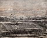 Autor: Humberto Baca / T: Tercer paisaje escrito / aguafuerte / 42x52 cm / Ed: 13