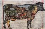 Autor: Humberto Baca / T: Vaca / aguafuerte a color / 12x27 cm - 30x45 cm / Ed: 14