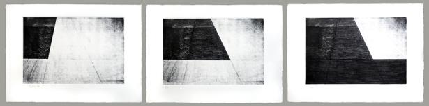Autor: Pedro Escapa / T: Tríptico dos / aguafuerte / 28x40 cm - 40x54 cm / Ed: 12