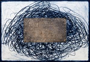 Autor: José Fors / T: Lo cuadrado tiende a explotar / punta seca y chine colle / 34x49 cm - 54x78 cm / Ed: 18