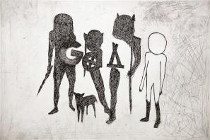 Autor: Alejandro Fournier / Título: God / Técnica: aguafuerte / Medida placa 40x59 cm - papel 62x80 cm / Edición: 24