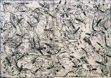 Autor: Gil Garea / T: Hormigas / aguafuerte y chine colle / 22x31 cm - 30x40 cm / Ed: 16