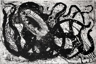 Autor: Gil Garea / T: Pulpo / aguafuerte / 16x24 cm - 31x40 cm / Ed: 18 (2003)
