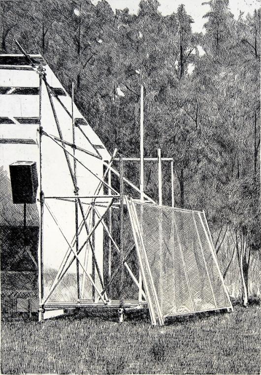 Autor: Enrique Hernández / T: Teatro y bosque / 445x310 mm - 79x54 cm / Ed: 24