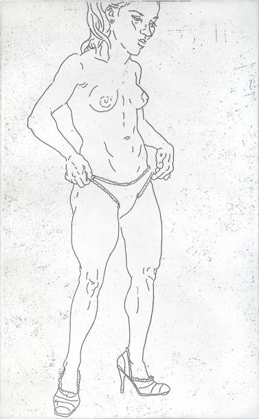 Autor: Juan Carlos Macías / T: Julia / aguafuerte / 40x25 cm - 54x40 cm / Ed: 24