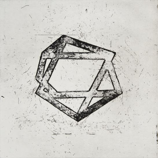 Autor: Francisco Morales / Título: 1 / Técnica: aguatinta / Medida placa 50x50 cm - papel 62x62 cm / Edición: 6