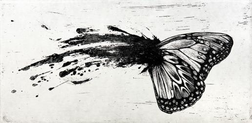 Autor: Luis Moro / T: Mariposa / barniz blando / 16x33 cm - 32x45 cm / Ed: 13