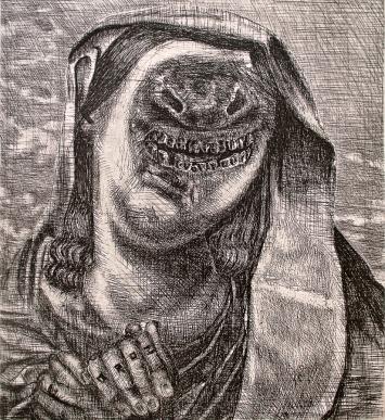 Autor: Enrique Oroz / T: Virgen / aguafuerte / 32x30 cm / Ed: 20