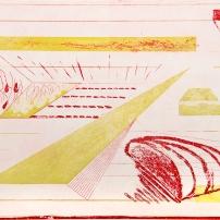 Autor: Roberto Turnbull / Título: Estadio en Llamas / Técnica: aguafuerte y aguatinta / Medida placa 35x45 cm - papel 54x80 cm / Edición: 40