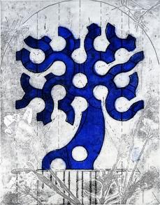Autor: Jerónimo Uribe / Título: Árbol de paz / Técnica: barniz blando / Medida placa 41x35 cm - papel 79x49 cm / Edición: 24